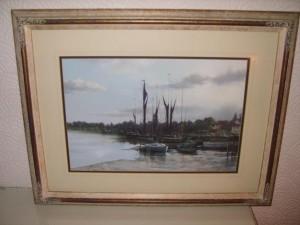 Maldon Harbour, Christine Slade, Pastel Painting
