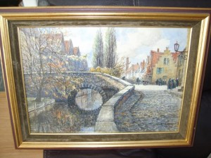 Frederick James Aldridge, WAter Colour, Pastel, Bruges