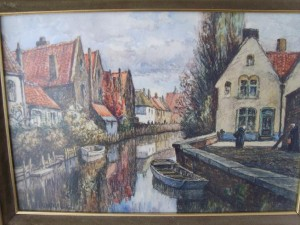Frederick James Aldridge, Water Colour, Pastels, Bruges