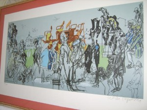 Feliks Topolski, Limited Edition Lithograph, Eton and Harrow