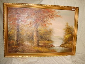 Oil Painting, Countryside Landscape
