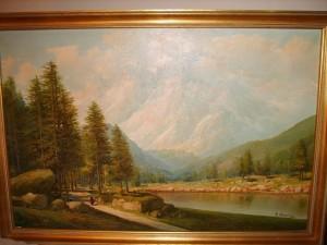 Giuseppe Bonacina, Oil Painting, Alpine Scene
