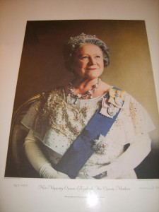 Queen Elizabeth the Queen Mother, Lithograph, Richard Stone