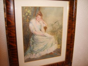 Water Colour Portrait, Young Victorian Lady