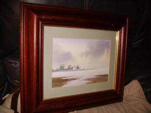 Nick Grant Water Colour, A Cloudy Coastline