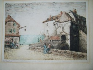 Margaret Aulton, Signed Coloured Etching