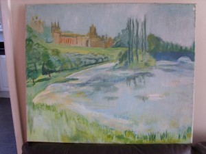 Clare Winsten, Oil Painting, Blenheim Palace