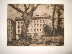 Signed Etching, by Charles Arthur Hunt