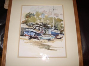 Boats on the Shore Front by Donald Bayley