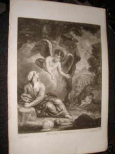 Mezzotint of Hagar and Ishmael by John Smith