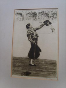 James McBey, Etching Drypoint, Ovation to the Matador