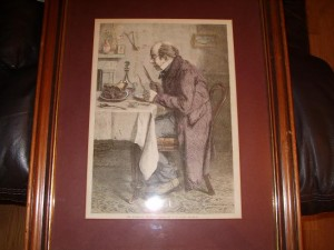 Victorian Print, The Batchelors Dinner