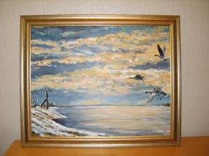 Birds Flying in Winter
