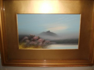 Furness Wilson, Moorland Scene, Water Colour Painting