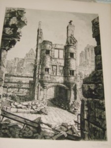 Notre Dame, Reims in Ruins by Raoul Varin