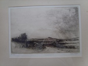 Jackson Simpson Signed Etching of Bennachie