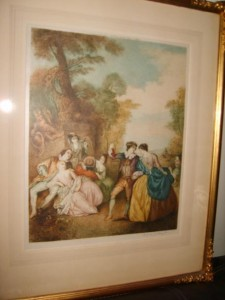 Stipple Engraving, The Dance, William Allingham