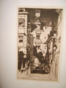 Etching, Amboise, France, David Young Cameron