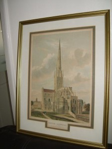 Norwich Cathedral, Coloured Lithograph