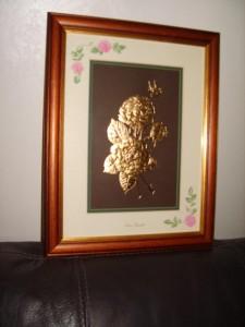 Golden Roses, Queen Elizabeth, 22carat Gold Leaf.