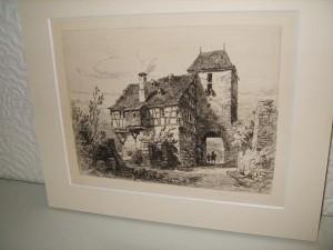 Etching, Cochem, Germany, Ernest George