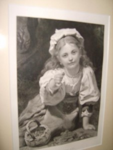 Antique, Engraving, The Strawberry Girl,