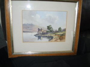 Water Colour, Urquhart Castle, Loch Ness, Sydney Vale F.R.S.A.