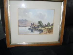 Water Colour, Urquhart Castle, Loch Ness, Sydney Vale F.R.S.A.