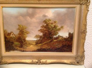 Noel Ripley, Oil Painting, Rural Valley Scene.