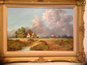 Noel Ripley, Oil Painting, Rural, Country Scene.
