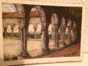Margaret Aulton, Etching, Cloisters of St. Bertrand De Comminges