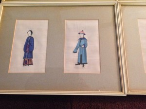 Chinese Water Colour, Rice Paper, Oriental, Antique.