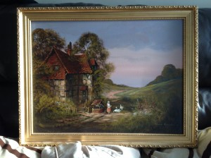 Ronald Horsewll, Oil Painting, Dutch Landscape Scene