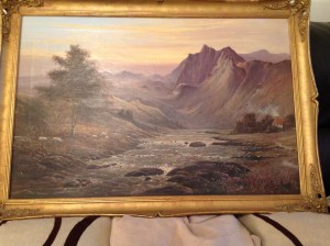 Paul Morgan, Oil Painting, Highland Scene