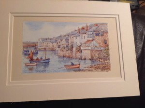 Thomas H. Victor, Mousehole Harbour, Water Colour.