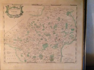 Robert Morden, Antique Map, Hertfordshire, 18th Century