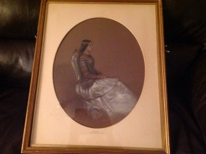 19th century painting, Edward Robert Smythe, Pastel Painting, Portrait Painting.