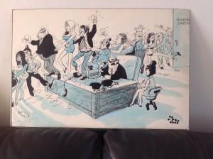 JAK, Raymond Allen Jackson, Pen & Ink Cartoon